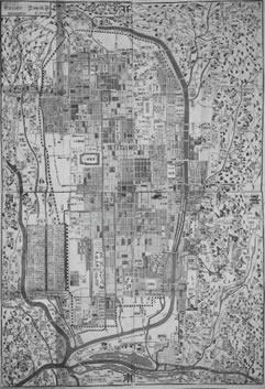 明治2年(1869年)京都町組図